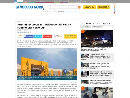 Flers-en-Escrebieux : rénovation du centre...
