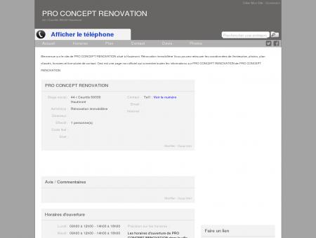 Site de PRO CONCEPT RENOVATION à...