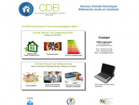 CDEI ingénierie : étude thermique - mesure de l ...
