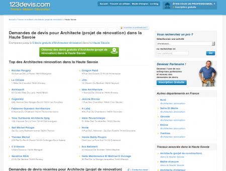 Architectes Haute Savoie (74) : rénovation, prix,...