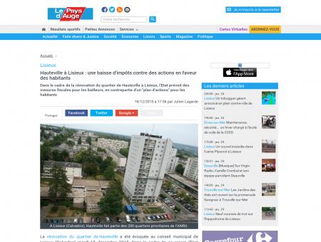 Lisieux. Hauteville à Lisieux : une baisse...