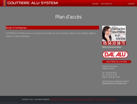 Plan - Gouttiere alu a Bordeaux, La Brede...