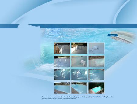 Renovation d'une piscine par projection de...