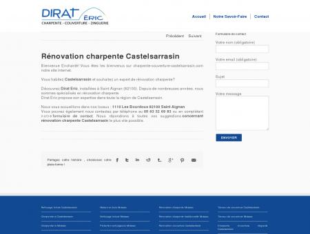 Rénovation charpente Castelsarrasin