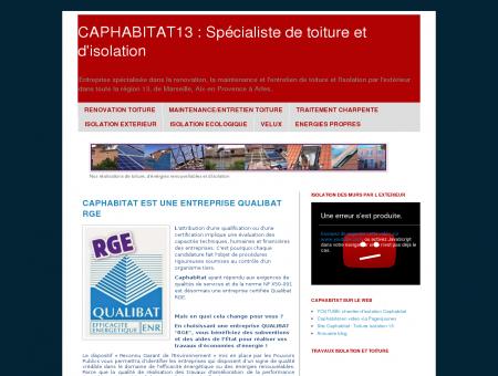 CAPHABITAT13 : Spécialiste de toiture et...