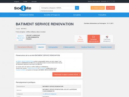BATIMENT SERVICE RENOVATION...