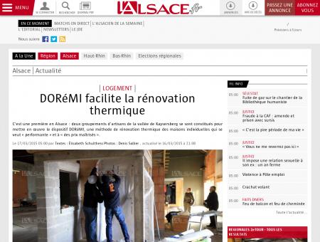 Alsace | DORéMI facilite la rénovation thermique