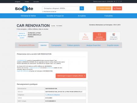 CAR RENOVATION (ARNOUVILLE) Chiffre...