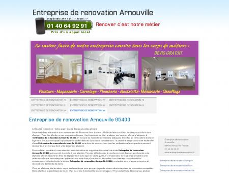 Entreprise de renovation Arnouville 95400...