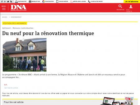 Environnement | Du neuf pour la rénovation...