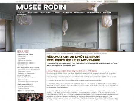 Rénovation de l'hôtel Biron | Musée Rodin