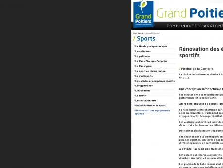 Rénovation des équipements sportifs - Sports ...