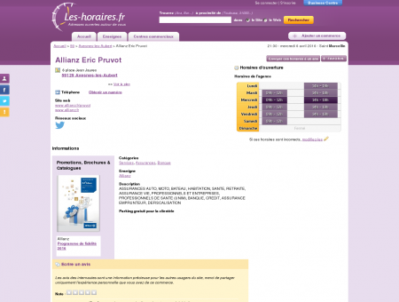 ALLIANZ à Avesnes-les-Aubert | Les-horaires.fr
