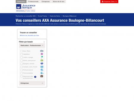 Assurance Boulogne-Billancourt - 92100 - AXA