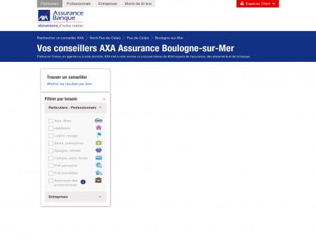 Assurance Boulogne-sur-Mer - 62200 - AXA -...