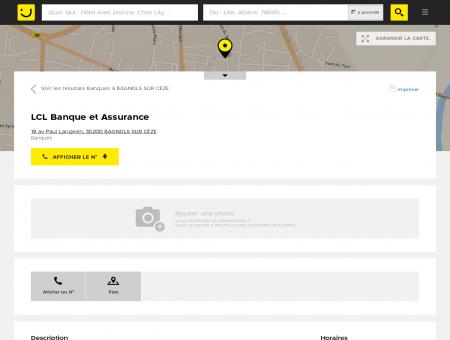 LCL Banque et Assurance Bagnols sur Cèze...