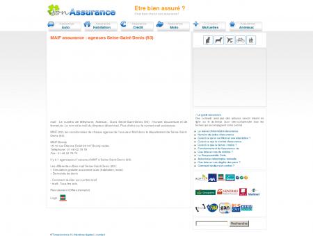 MAIF assurance : agences Seine-Saint-Denis (93)