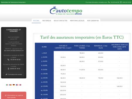 AutoTempo - Assurance temporaire Auto...
