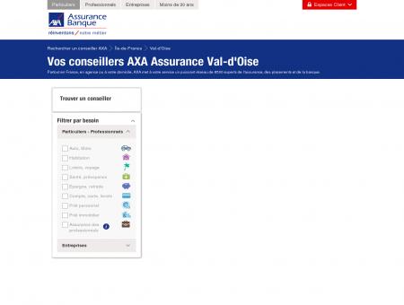 Assurance Val-d'Oise - AXA - Rechercher un...