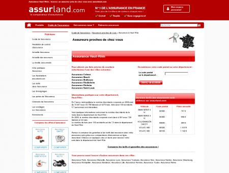 Assurance HAUT-RHIN : trouvez un assureur...