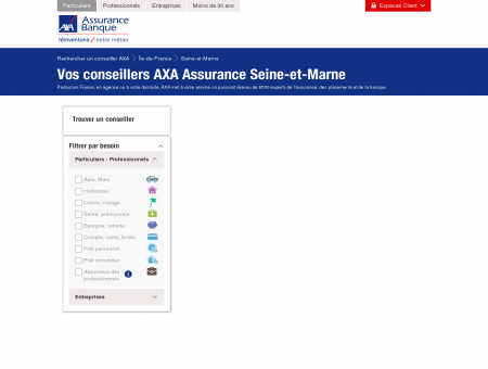 Assurance Seine-et-Marne - AXA - Rechercher...