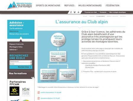 L'assurance au Club alpin - Fédération des...