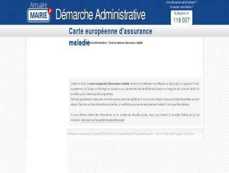 Demande de carte européenne d'assurance...