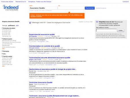Emploi Assurance Qualite - Jobs | Indeed.com
