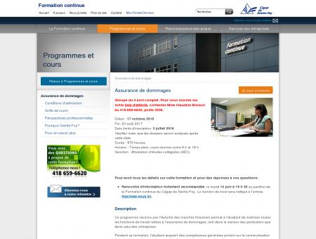 Formation continue: Programmes AEC et DEC:...