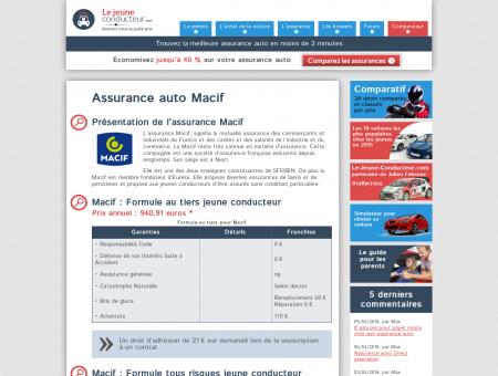 Macif : Assurance Auto Jeune Conducteur | Prix...