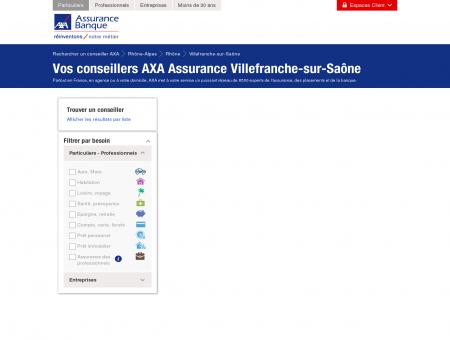 Assurance Villefranche-sur-Saône - 69400 - AXA