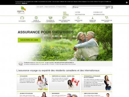 APRIL International Canada: assurance voyage...