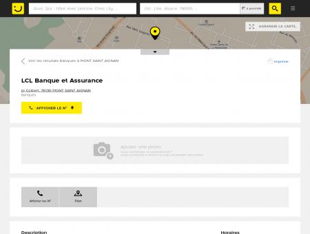 LCL Banque et Assurance Mont Saint Aignan...