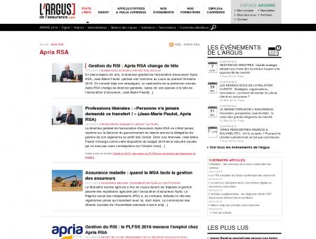 Apria RSA : Infos du leader en assurance...