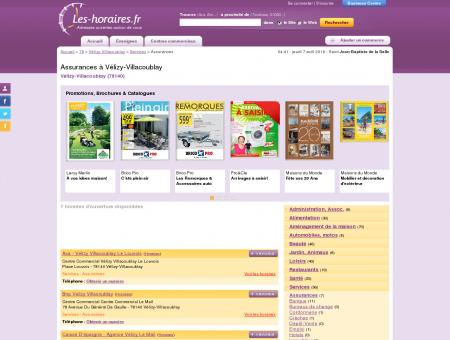 Assurances à Vélizy-Villacoublay | Les-horaires.fr