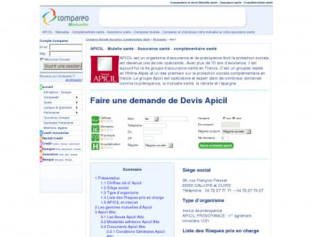 APICIL - Mutuelle - Compareo - Comparatif :...