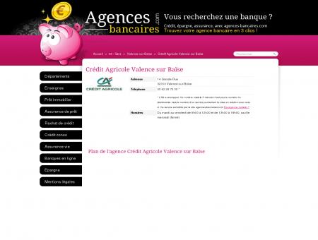 Crédit Agricole Valence sur Baïse - Agences...