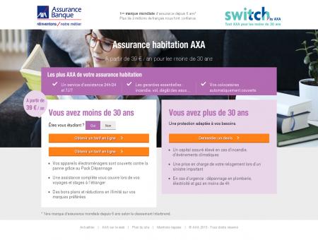 Assurance colocation AXA - Assurance habitation à prix réduit.