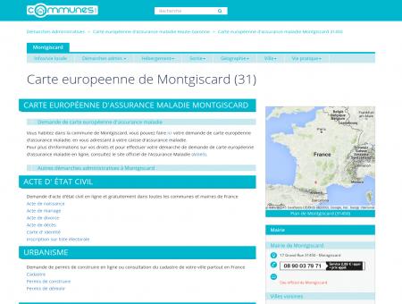Demande de carte Européenne assurance...