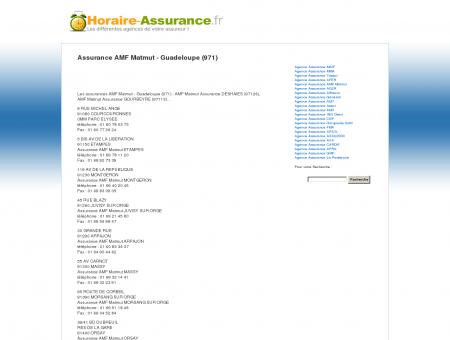 Assurance AMF Matmut - Guadeloupe (971) -...