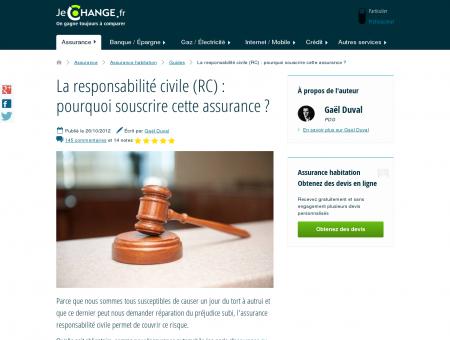 La responsabilité civile (RC) : pourquoi souscrire...