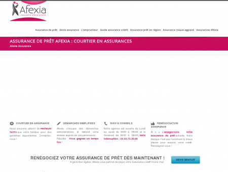 Assurance en ligne Afexia : courtier en...