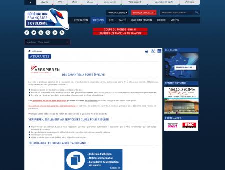 Assurances | Fédération Française de Cyclisme