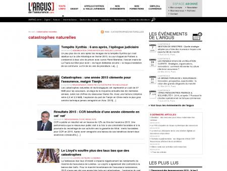 catastrophes naturelles - L'Argus de l'assurance ...
