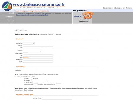 Demande d'adhésion - www.bateau-assurance.fr