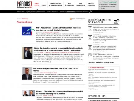 Nominations - L'Argus de l'assurance -...