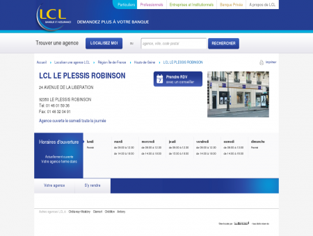 Agence LCL LE PLESSIS ROBINSON : assurance...