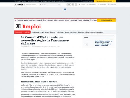 Le Conseil d'Etat annule les nouvelles règles de...