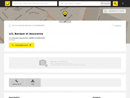 LCL Banque et Assurance Guyancourt...