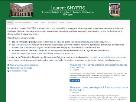 Laurent SNYERS, étude notariale à Enghien